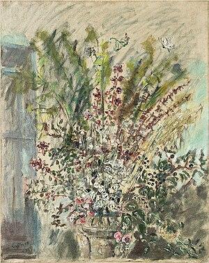 Filippo De Pisis - Fiori di campo, 1953, oil on canvas, (Fondazione Cariplo)