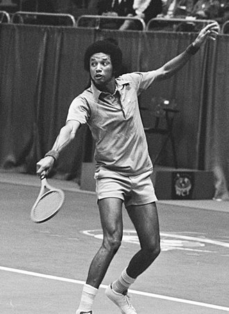 Arthur Ashe - Arthur Ashe, winning the 1975 ABN World Tennis Tournament in Rotterdam