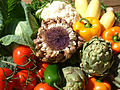 Artichoke flower, and more veggies.jpg