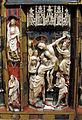Artista inglese, forse di nottingham, trittico con storie della passione, 1350-1400 ca., alabastro, legno e vetri 06.JPG
