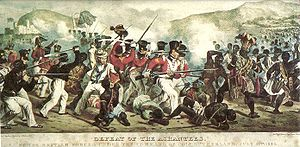 Anglo-Ashanti wars - Defeat of the Ashantees, by the British forces under the command of Coll. Sutherland, July 11th 1824