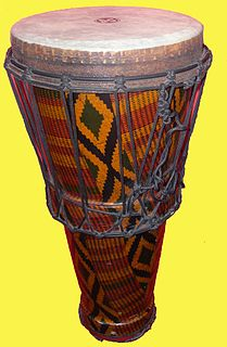 Ashiko Tapered drum traditionally found in West Africa and part of the Americas