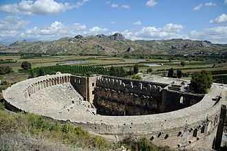 Aspendos - The Roman theatre in Aspendos has been preserved remarkably well.