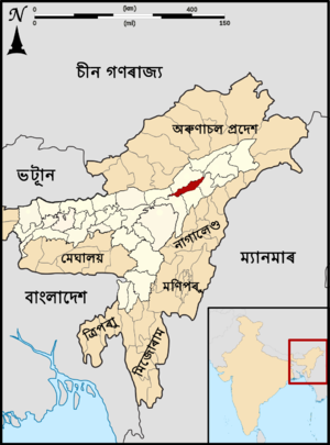 Assam Majuli locator map Assamese.png