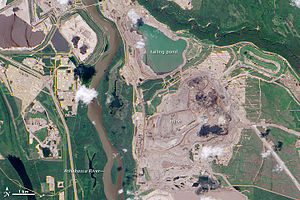 Oil sands tailings ponds - Oil sands tailings ponds