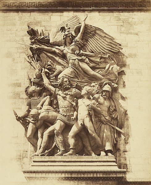 "File:Attributed to Gustave Le Gray, ""Marseillaise,"" Arc de Triomphe, Paris, about 1853.jpg"