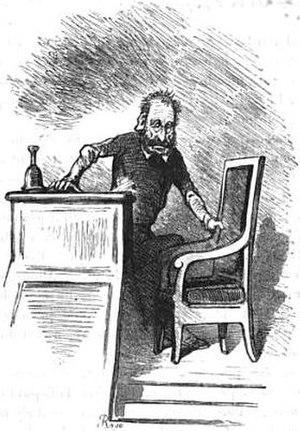 Pierre-François Audry de Puyraveau - 1850 Caricature of Audry de Puyraveau by Cham