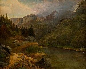 August Piepenhagen - Image: August Bedřich Piepenhagen Krajina s jezerem