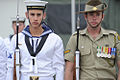 Australian sailor and soldier wearing formal uniforms 2011.jpg