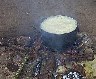 Ayahuasca - Ayahuasca cooking in the Loreto region of Peru