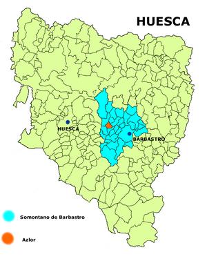 Azlor - Image: Azlor mapa