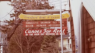 Historic sites in Cranford, New Jersey - This sign image was taken back in the late 1970s