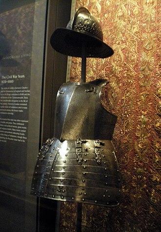 Corslet - English helmet and corslet, ca. 1620
