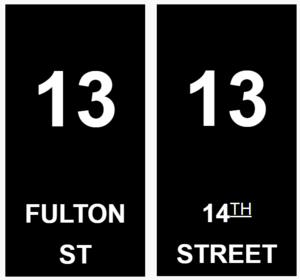 13 (BMT rapid transit service) - Image: BMT 13