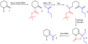 Di-tert-butyl dicarbonate - Schematic: synthesis of 6-acetyl-1,2,3,4-tetrahydropyridine