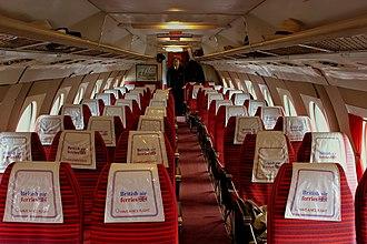 Vickers Viscount - five-abreast cabin