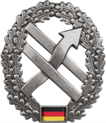 Beret badge of the troops for operational communication, which has been in place since 2017