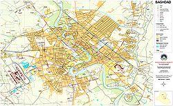 2003 street map of Baghdad