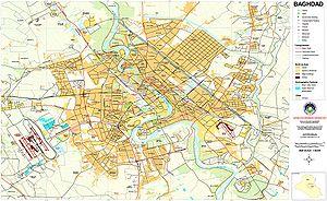 History of Baghdad - 2003 street map of Baghdad