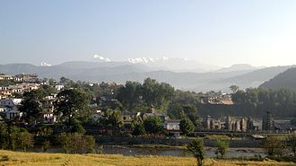 Palampur, Himachal Pradesh - Baijnath Temple with Dhauladhar mountains in the backdrop