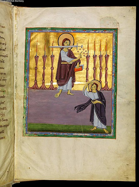 File:BambergApocalypseFolio003rAngelWith7Candlesticks - 2.jpg