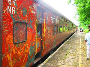 Thiruvananthapuram Rajdhani Express - Image: Bangalore Rajdhani Express