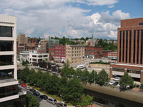 Downtown Bangor in August 2004