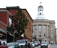Bath city hall Maine USA