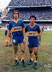 4e7a1f0e543 Batistuta with Diego Latorre in Boca Juniors