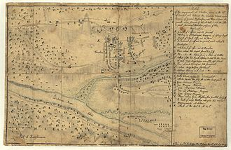 Battle of Trenton - The Hessian Sketch of the Battle of Trenton