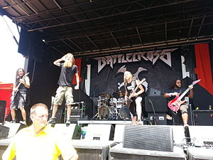 Mayhem Festival 2013 - Battlecross performing at Mayhem Festival in Dallas, Texas with touring percussionist Kevin Talley of Dååth