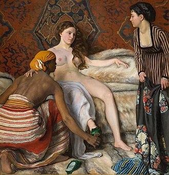 Bathsheba at Her Bath (Rembrandt) - Frédéric Bazille, La Toilette, 1870