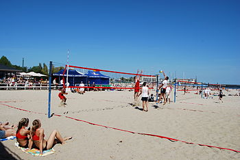 Beach Volleyball in Gdynia, Poland