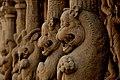 Beautifully carved inner wall of Kanchi Kailasanathar Temple, Kanchipuram, Tamil Nadu.jpg
