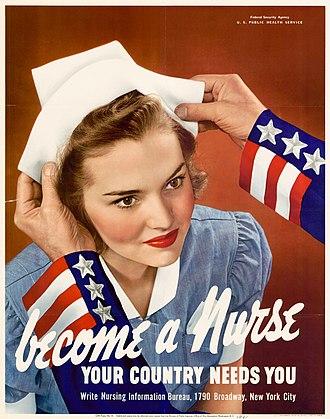Cadet Nurse Corps - Image: Become a nurse