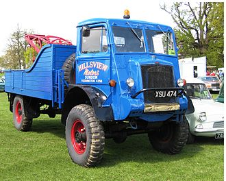 Bedford Vehicles - The war-time Bedford QL, with the driver perched above the engine in a forward control cab, foreshadowed post-war truck designs.