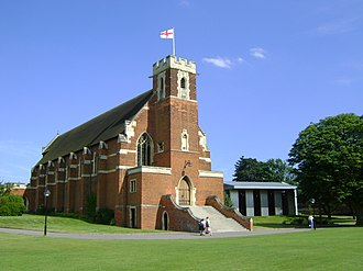 Bedford School - Bedford School Chapel (with the new Music School seen to the right)