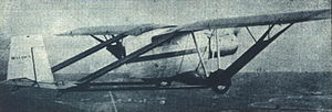 Bellanca TES - Rear view of the ill-fated TES