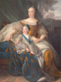 Belle, Alexis Simon, studio of - Queen Marie Leszczyńska and her son.png