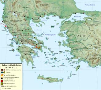 Mithridates VI of Pontus - Mithridatic Wars 87–86 BC.