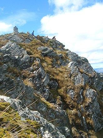 Ben Lomond (Otago) - View of the summit at the top of Ben Lomond