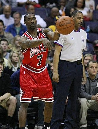 Ben Gordon - Gordon during a 2008–09 regular season game with the Bulls