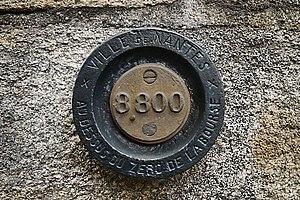 Benchmark on Hôtel de Ville, Nantes, Loire-Atlantique, France.JPG