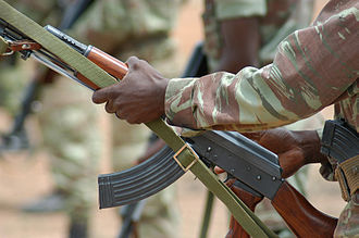 Benin Armed Forces - A Beninese soldier with a Type 56