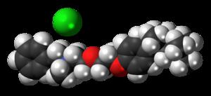 Benzethonium chloride - Image: Benzethonium chloride 3D spacefill