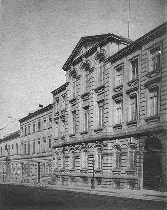 Berlaymont building - The Berlaymont convent and boarding school (rue de la Loi) around 1900
