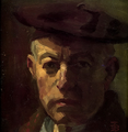 Bernt Tunold 1939 Selvportrett med alpelue.png