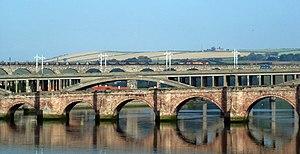 Berwick Bridge - The three bridges in Berwick