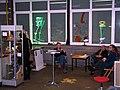 Besucherin, Thomas Kupas, Franz Betz, Arzu Sandal, Lister Künstler - Atelierrundgang 2012, Werkatelier Walderseestraße 7 in 30161 Hannover.jpg