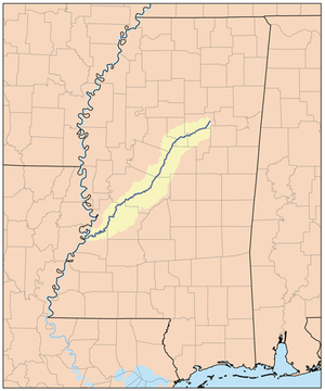 Big Black River (Mississippi) - Image: Bigblackrivermap